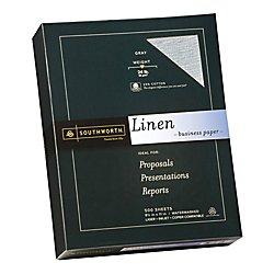 Southworth Linen Business Paper, 24 Lb., Letter Size, Gray, 500 Sheets (574C) by Southworth