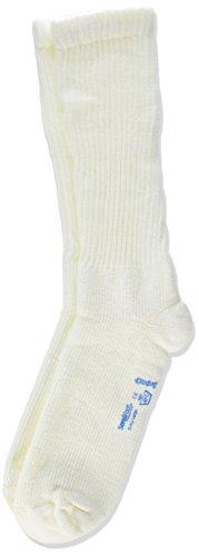 JOBST Sensifoot Closed Toe Crew Sock, White, X-Large