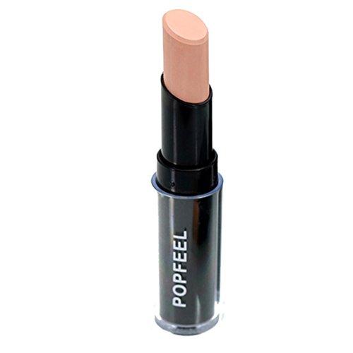Face Lip Shimmer Stick (Foundation Makeup, Misaky Natrual Cream Face Lips Concealer Highlight Contour Pen Stick (# B))