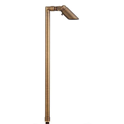 VOLT Lighting Innovator Adjustable Path Light (Brass) - Low Voltage Landscape Lighting 12V