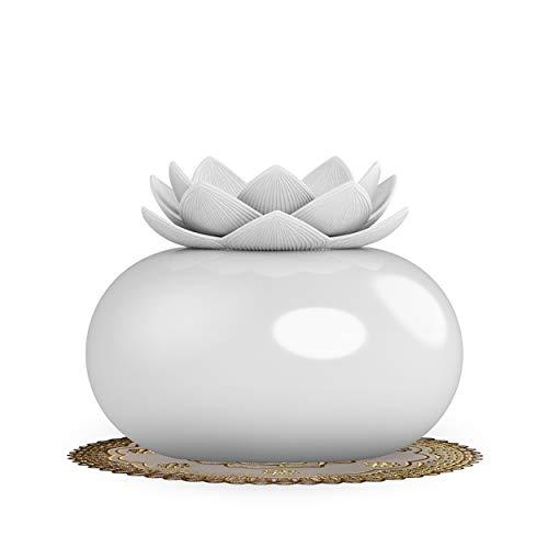 YJY Ceramic Aromatherapy Essential Oil Diffuser, Lotus Flowe