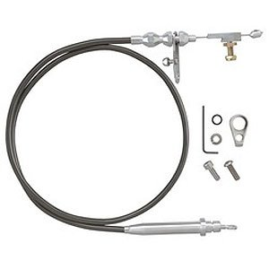Lokar KDP-24L60U Black Housing Kickdown Cable Kit with Polished End for GM 4L60 by Lokar