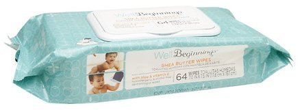 Well Beginnings Baby Wipes Shea Butter With Aloe & Vitamin E, Total 192 Count Wipes