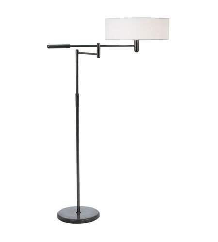 (Sonneman 7001.51, Perno Tall Adjustable Swing Arm Floor Lamp, 2 Light, Black Brass)