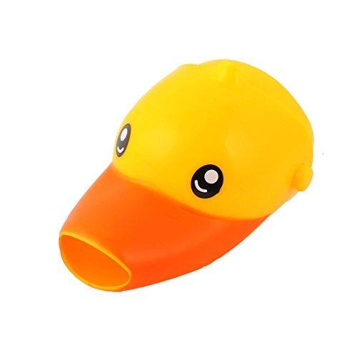 eDealMax silicone Cuisine Salle de bain en forme de canard amovible Robinet Robinet Extender jaune