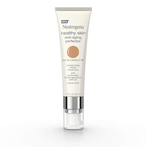 Neutrogena Healthy Skin Anti-Aging Perfector Spf 20, Retinol Treatment, 50 Tan To Medium, 1 Fl. Oz. Anti Aging Zinc Moisturizer