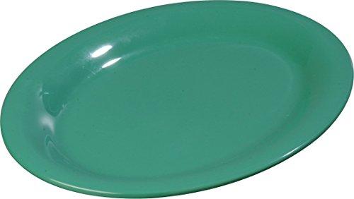 - Carlisle 4308609 Durus Melamine Oval Serving / Dinner Platter, 9.5