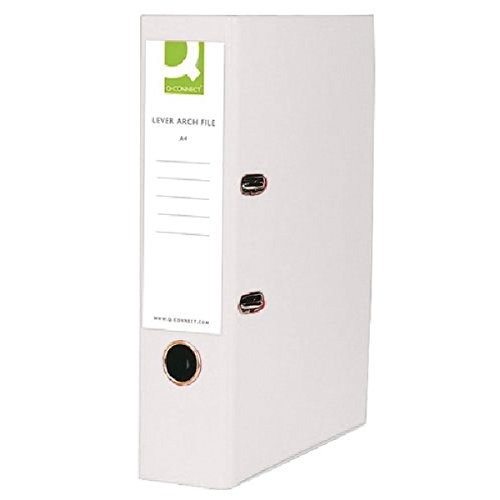 Q-Connect KF20024 Lever Arch File A4 Polypropylene - White (Pack 10)