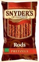 Snyder's of Hanover Pretzel Rods, 10 oz (Pack of 3)