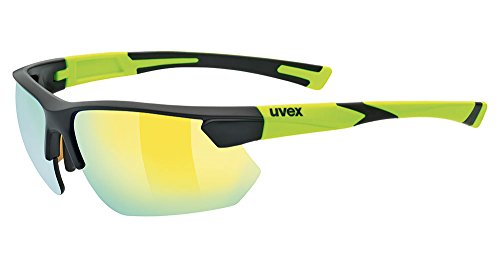Uvex Sportstyle 221 Sunglasses Black Mat Yellow, One Size - - Uvex Sunglasses