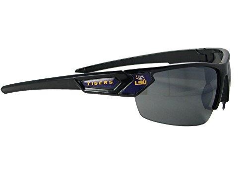 Louisiana State Tigers Black Purple Sport Mens Womens Sunglasses LSU ()