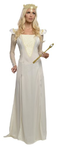 Glinda Halloween Costume Wicked (Rubie's Costume Disney's Oz The Great and Powerful Adult Glinda Dress and Headpiece, Multi, Small)