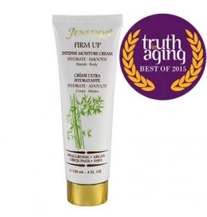 Award winner, Firm Up hands and body cream with Hyaluronic Acid, creme hydratante corps et mains. Jenetiqa