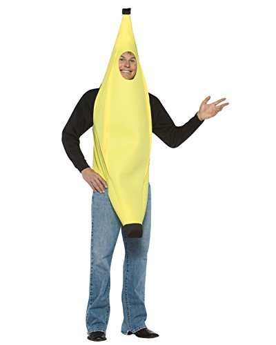 Cheap Quick And Easy Costumes (Yellow Banana Costume Funny Theatre Costumes Quick Easy Sizes: One Size)