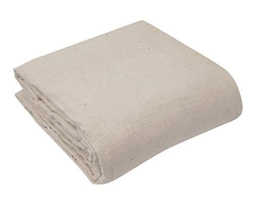 Premium Quality Natural Canvas Cotton Drop Cloth Dust Sheet - 9x12ft - 6oz. ()