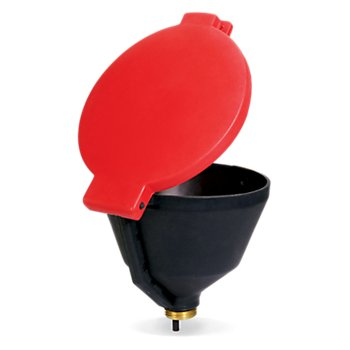 New Pig Burpless Poly Drum Funnel, For 30 & 55 Gal Plastic Drums w/ 2'' Buttress Thread, 13'' Dia x 11'' H, Black, DRM1077-BK
