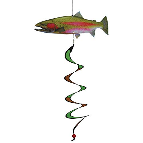 In the Breeze 5123 Trout Fish Theme Twister-Hanging Outdoor Decoration
