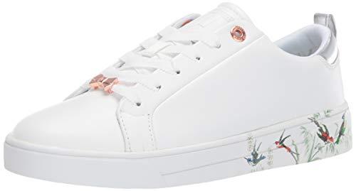 Ted Baker Women's Roully Sneaker White Fortune 9 Regular US