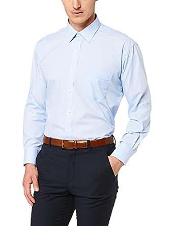 Van Heusen Classic Relaxed Fit Business Shirt, Blue, 38 82