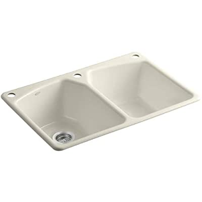 Kohler Tanager Self-Rimming Kitchen Sink with Single-Hole Faucet Drilling and Two Accessory Holes