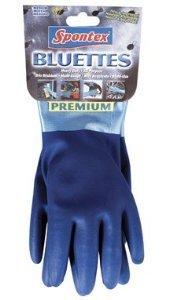 Spontex Neoprene Bluettes Gloves 100% Cotton X-Large Blue - Spontex Gloves Bluette