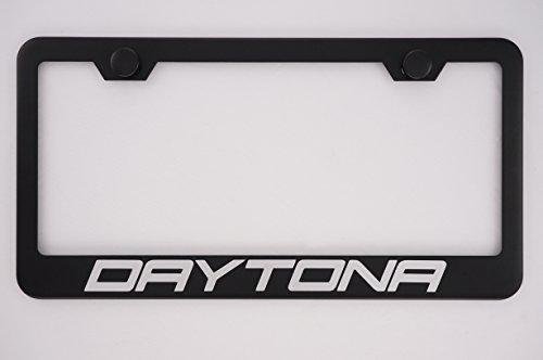Dodge Daytona Black License Plate Frame with Caps