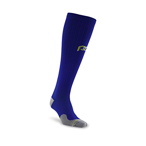 PRO Compression: Marathon (Full-Length, Over-the-Calf) Compression Socks, Royal Blue, Small/Medium
