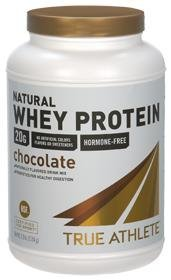True Athlete Natural Whey Protein Chocolate, 20g of Protein per Serving Probiotics for Digestive Health, Hormone Free NSF Certified for Sport (2.5 Pound Powder) (Chocolate All Natural)