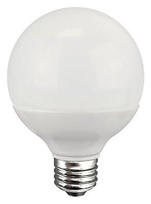 TCP 60 Watt Equivalent Single-pack, LED G25 Globe Light Bulb, ENERGY STAR Certfied, Dimmable, Soft White RLG256027D