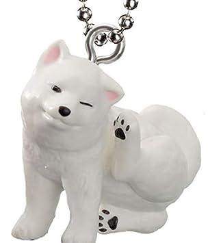 Llavero Shiba Inu Akita Blanco 4 cm EPOCH Cápsulas Toy Japón ...