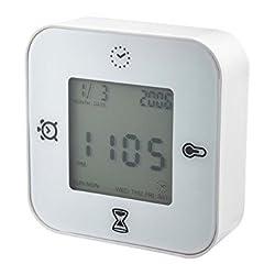 Ikea Klockis Clock/thermometer/alarm/timer, White