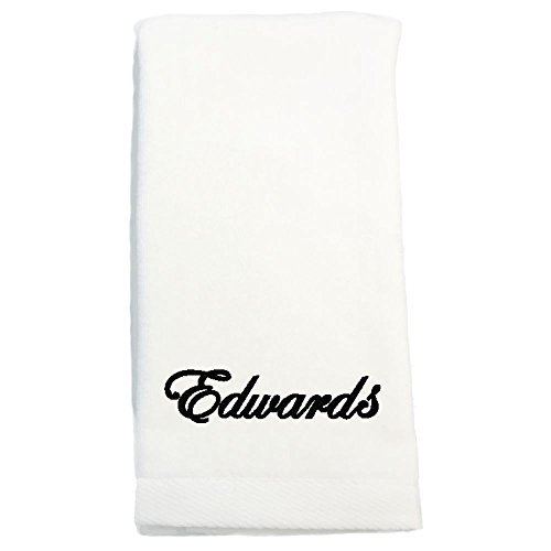 Towel Hand Hemmed Embroidered - Monogrammed Personalized Name Hand Towels, Size 16