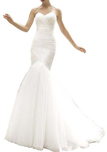 Used, Ethel Women's Ruched Lace Up Tulle Mermaid Sweetheart for sale  Delivered anywhere in USA