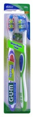 Gum Toothbrush Supreme Max Medium Twin Pack (6 Pieces)