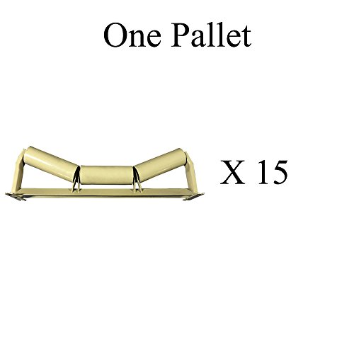 "C20-42, C5-20E-42 One Pallet (X15) of Trougher Equal Idlers – 20 Degrees, 5"" Diameter, 42"" Belt Width by AIS Construction Equipment"