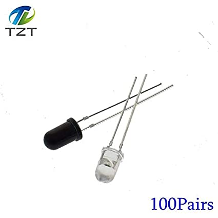Diodes Electronic Components & Supplies 100pcs Led 5mm 940nm Ir Infrared Emitting Round Tube Light Diode