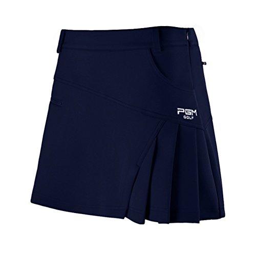 Kayiyasu スカート レディース ゴルフウェア 見せパン付き 女性 ミニスカート 夏 021-xsty-qz012(XL ネイビー)
