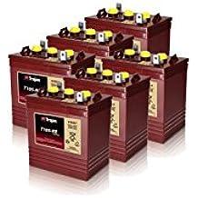 6x Trojan T105-RE Renewable Energy 6V GC2 Deep Cycle Battery 225Ah