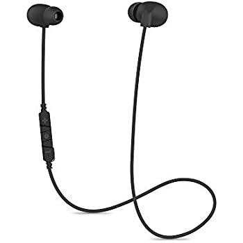 Karakao Bluetooth Headphones H1 Wireless V4.1 RuningEarbuds Workout Bluetooth Earphones with Micfor iPhone and Android - Black Headset