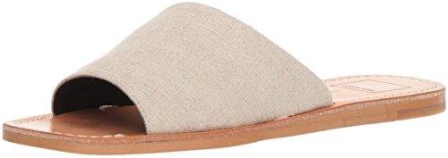 Dolce Vita Womens Cato Slide Sandal Sand Linen