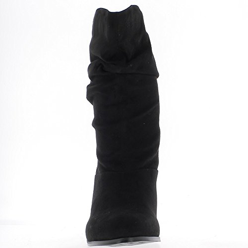Camoscio Stivali Foderato Dimensioni Interno Nero 9cm Tacco Aspetto Grandi 0HqqS7