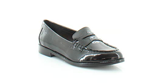 Lauren Ralph Lauren Women's Barrett Penny Loafer, Black Patent Leather, 5 B US