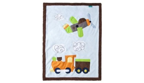 Tiddliwinks Come Ride with Me Jumbo Applique Baby Blanket -