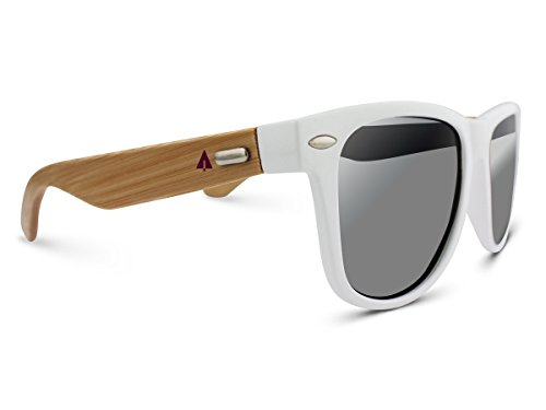 TREEHUT Wooden Bamboo Sunglasses Temples Classic Wayfarer Retro Square Wood Sunglasses 1 NATURE-FRIENDLY – Treehut Wooden Bamboo Sunglasses are environmentally conscious because they are made of sustainable bamboo wood. When bamboo is harvested, it renews itself readily, making it an endlessly renewable source. TRENDY DESIGN – The casual design of the Wayfarer exudes a classic feeling making it ideal for everyday use in any situation. It complements all face shapes and can be worn by ladies and gentlemen alike HIGH-GRADE LENSES – The composite iridium lenses offer 99% protection against harmful UVA/UVB rays, allowing you to have all the fun under the sun.