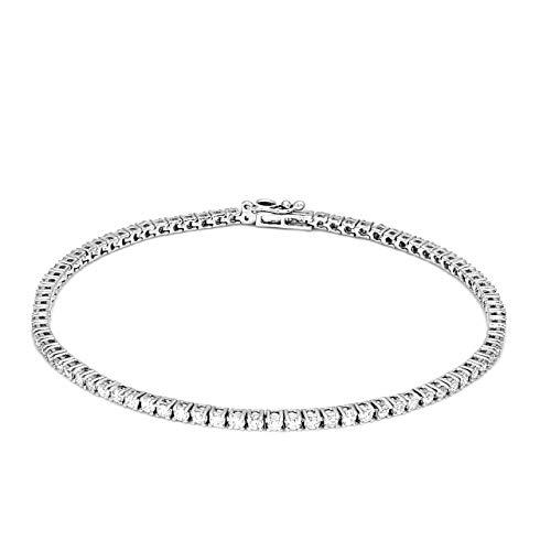 100% Real Diamond Bracelet Tennis Bracelet 2ct IGI Certified Lab Grown Diamond Bracelet For Women Lab Created Diamond Rings SI-GH Quality 10K White Gold Real Diamond Bracelet (Jewlery Gift For Women) 2ct Round Diamond Tennis Bracelet