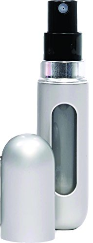 Travalo Travel Spray by Travalo Mini Travel Refillable Spray with Cap Refills from Any Fragrance Bottle (Sleek Silver) .135 oz for Women