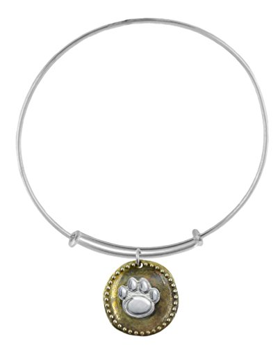 NCAA Penn State Nittany Lions .925 Sterling Silver Antique Coin Adjustable Bracelet, Penn State Jewelry - Silver Lion Coins