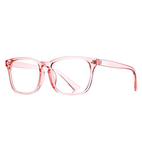 Pro Acme Non-prescription Glasses Frame Clear Lens Eyeglasses (Clear Pink) -