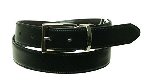 Club Room Mens Coated Leather Reversible Dress Belt Black 32 - Club Belt Room Reversible
