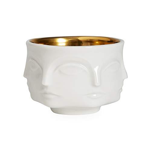 (Jonathan Adler - Muse Votive Holder - Dora Maar - White/Electroplated Gold)
